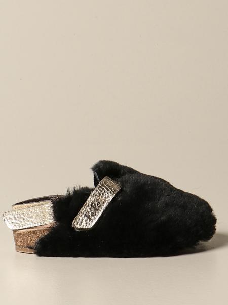 Sandalo flat Pepè in pelliccia sintetica