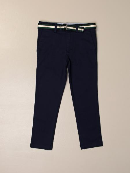 Pantalone Polo Ralph Lauren Kid con cinta a righe