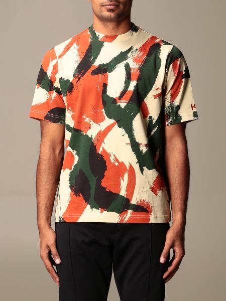 Kenzo: T-shirt Kenzo in cotone con stampa astratta