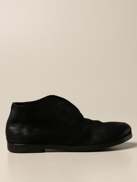Pantofola Listello Marsell in pelle di cervo scamosciata