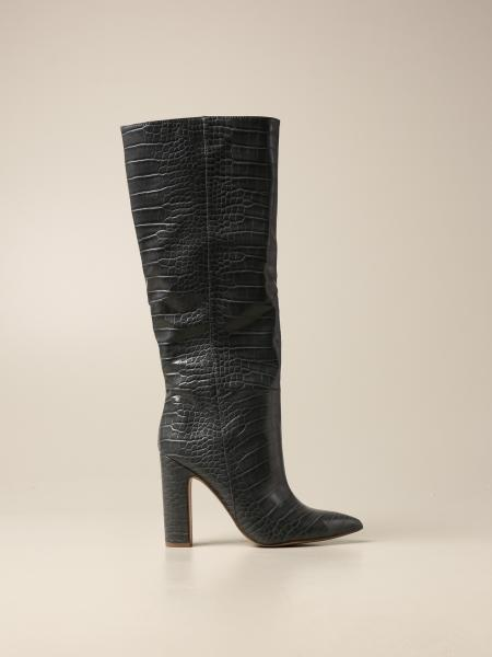 Rouge Steve Madden boot in synthetic leather with crocodile print