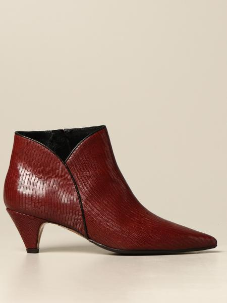 Tejus Anna F. leather ankle boot with reptile print