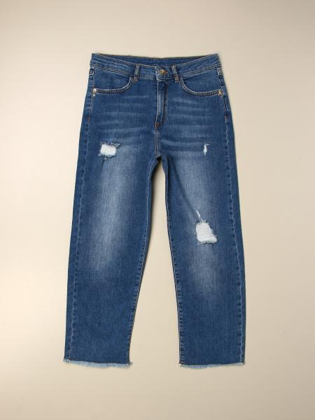 Jeans Patrizia Pepe in denim used con rotture