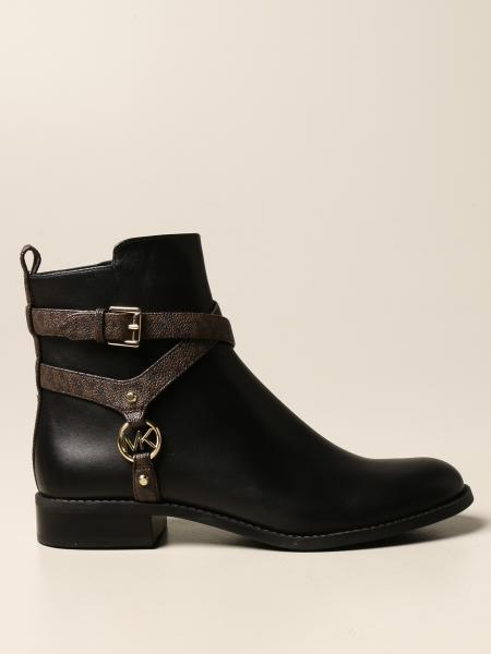 Michael Michael Kors ankle boot in smooth leather and MK print leather