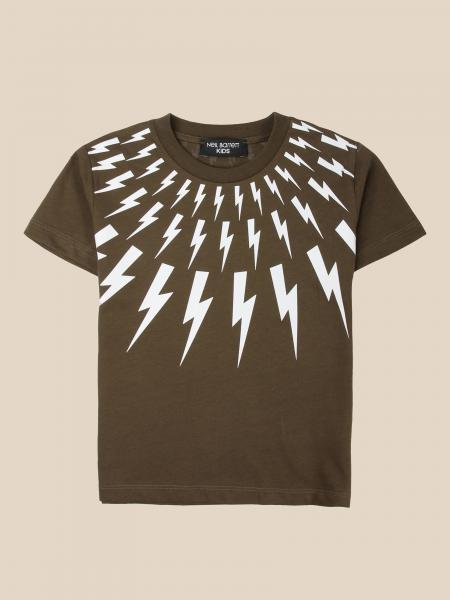 Neil Barrett: Neil Barrett T-shirt with lightning print