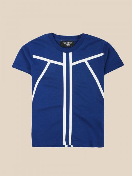 Neil Barrett: Neil Barrett T-shirt with contrasting bands