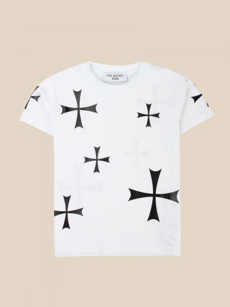 Neil Barrett: Neil Barrett T-shirt with all over prints
