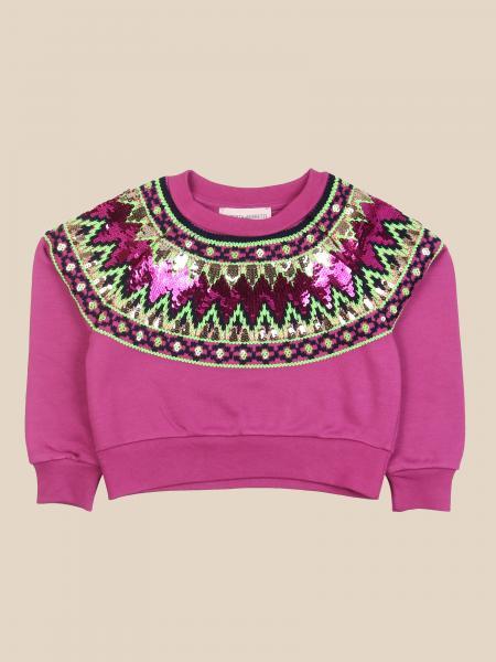 Alberta Ferretti kids: Norwegian Alberta Ferretti Junior sweatshirt with micro sequins
