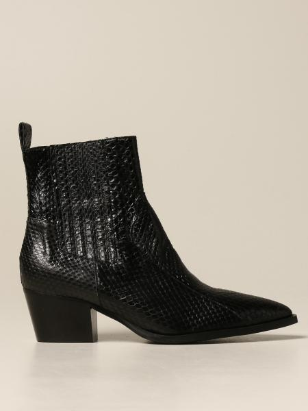 Maliparmi: Camperos Maliparmi ankle boot in leather with reptile print