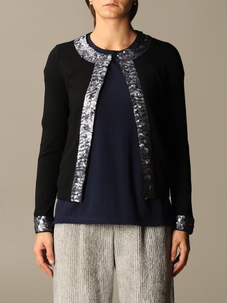 Maliparmi: Cardigan di lana Maliparmi con profili di paillettes
