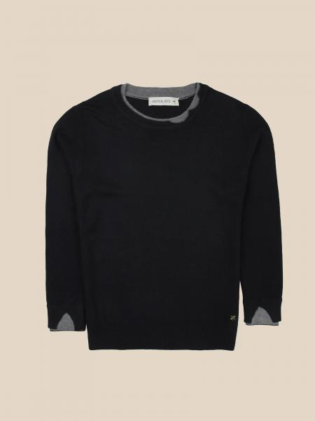 Manuel Ritz crewneck sweater with contrasting tears