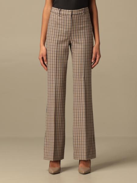 S Max Mara: Pantalone classic S Max Mara a quadri
