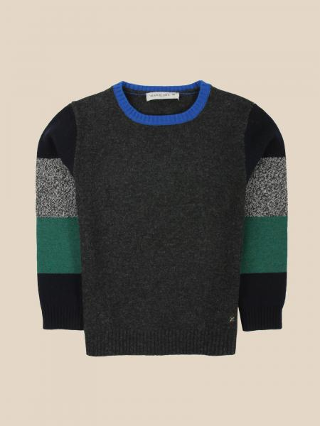 Manuel Ritz crew neck sweater with colored sleeves