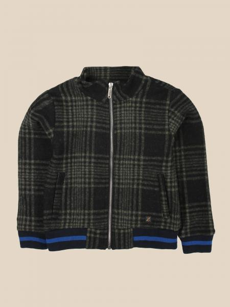 Manuel Ritz tartan sweatshirt with zip