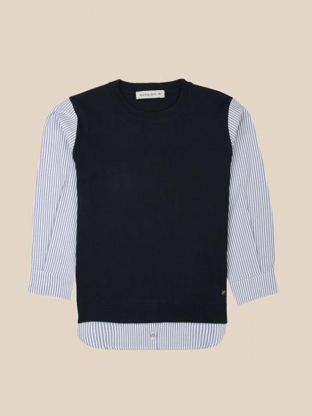 Manuel Ritz crew neck sweater with shirt sleeves