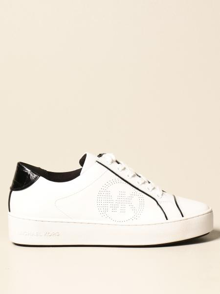 Michael Kors women: Michael Michael Kors sneakers in leather with MK logo