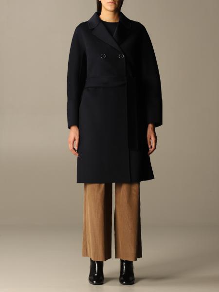 Cappotto a doppiopetto S Max Mara in lana vergine e cashmere