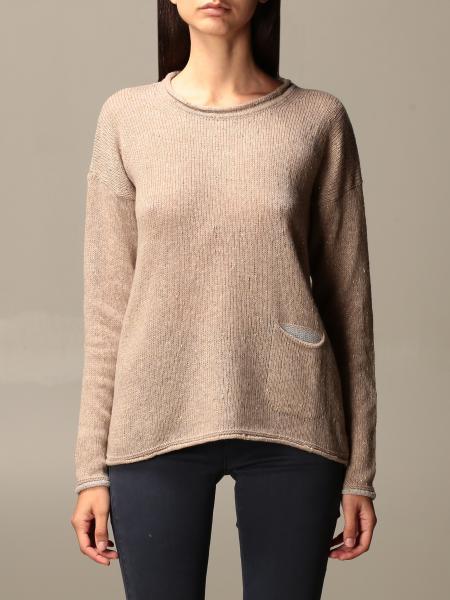 Gran Sasso: Gran Sasso crewneck sweater in virgin wool and cotton
