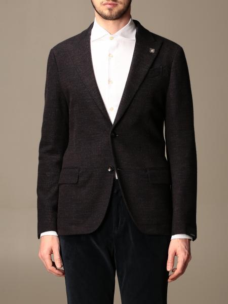 Giacca a monopetto Lardini in cotone e lana