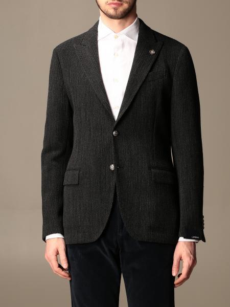 Giacca a monopetto Lardini in misto lana