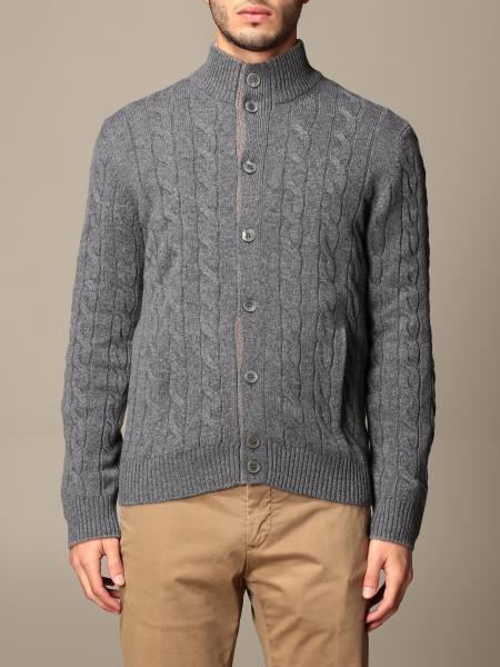 Gran Sasso: Gran Sasso cardigan in cable-knit cashmere