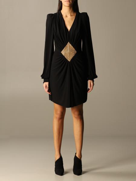 Balmain: Balmain short dress with rhinestone rhombus