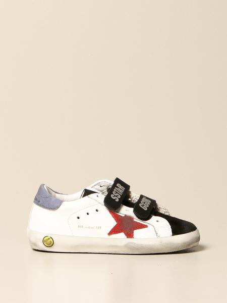 Golden Goose bambino: Sneakers Old school Golden Goose in pelle e camoscio