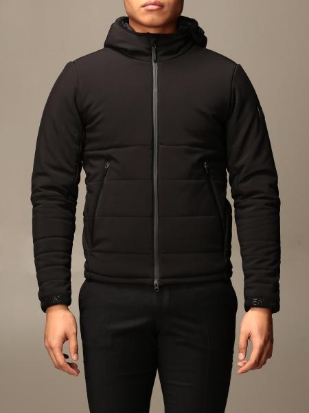 Ea7 men: EA7 jacket with hood and zip