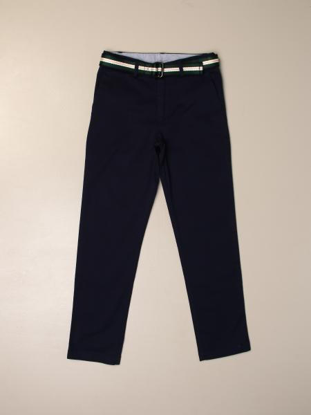 Pantalone Polo Ralph Lauren Boy con cinta a righe