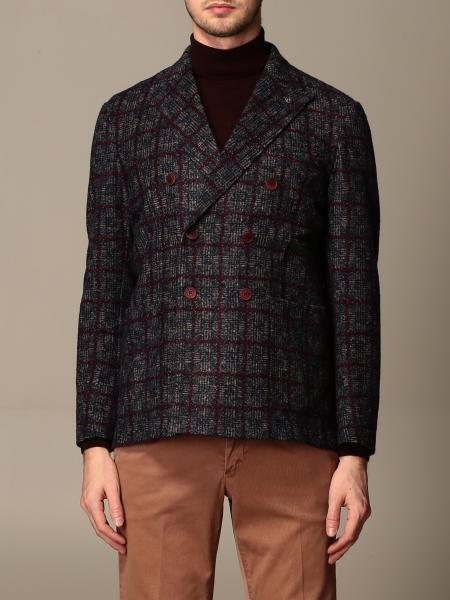 Giacca a doppiopetto Havana & Co. in misto lana a quadri
