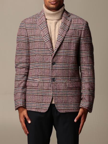 Giacca a monopetto Havana & Co. in misto lana check