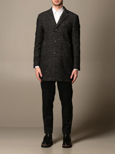 Havana & Co. coat in tartan wool blend