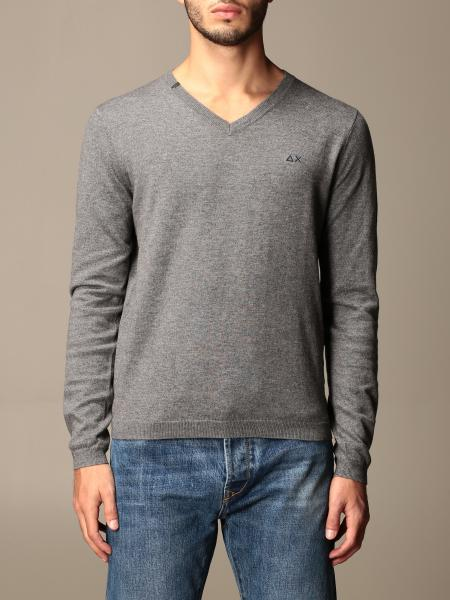 Sun 68: Sun 68 v-neck sweater in wool and cotton
