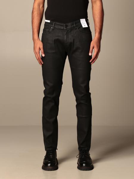 Pt 5-pocket jeans in coated denim