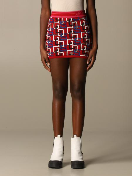 Gcds mini skirt with all over logo