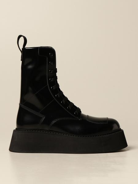 Gilda Commando GCDS ankle boot in brushed leather