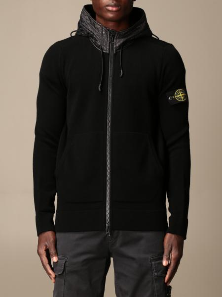 Stone Island sweatshirt with hood and zip