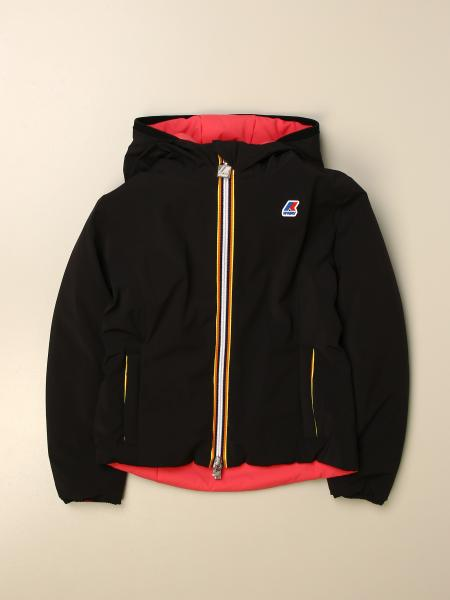 Reversible K-way jacket with logo