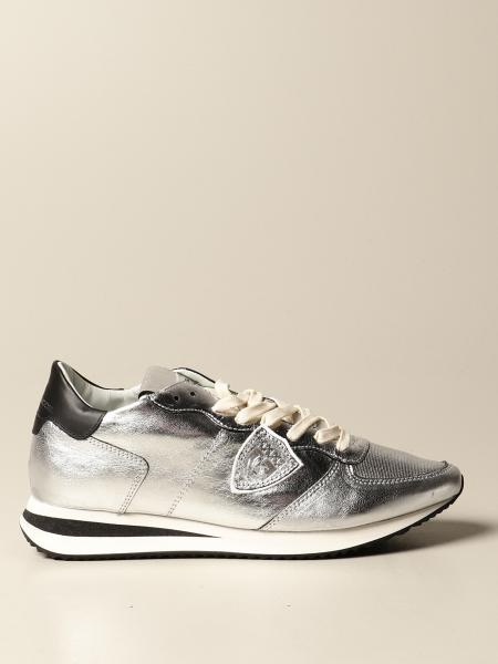 Sneakers Philippe Model in pelle laminata