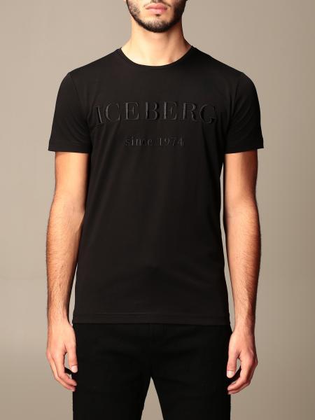 Iceberg: T-shirt Iceberg con logo tono su tono
