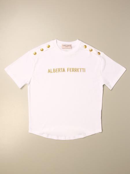 Alberta Ferretti kids: Alberta Ferretti Junior T-shirt with logo and buttons
