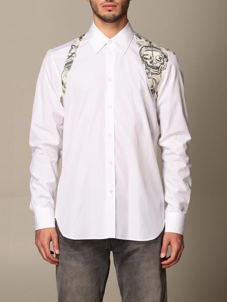Alexander McQueen shirt with skull print buckle