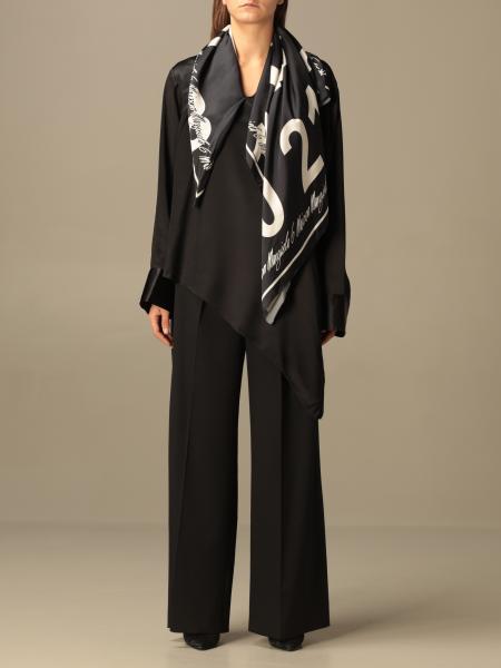 Maison Margiela: Mm6 Maison Margiela blouse with printed foulard