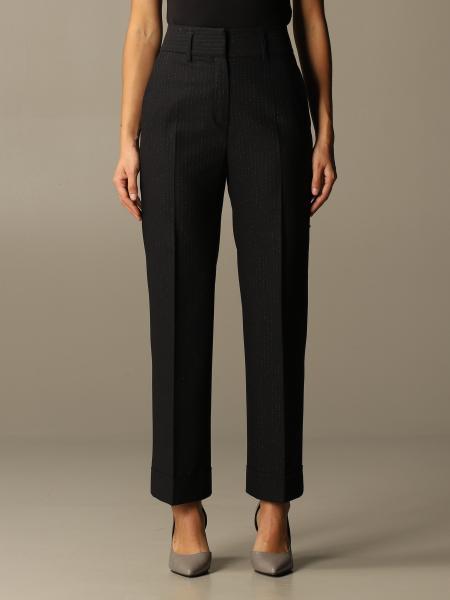 True Royal: True Royal trousers in lurex pinstripe