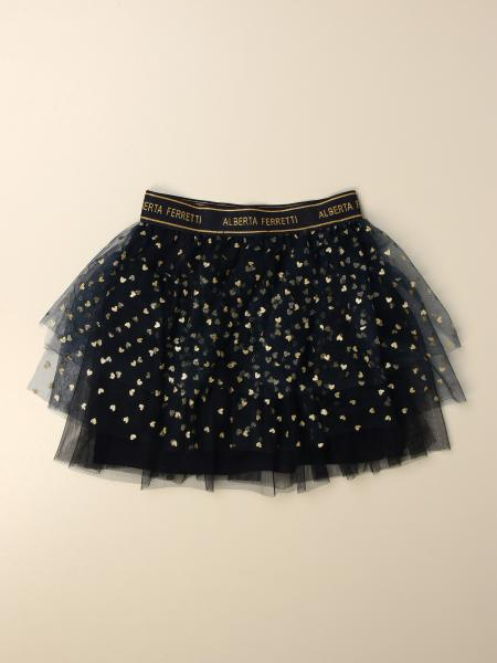 Gonna corta in tulle lurex Alberta Ferretti Junior