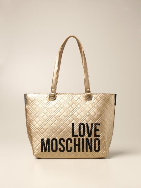 Borsa a spalla Love Moschino in pelle sintetica con logo