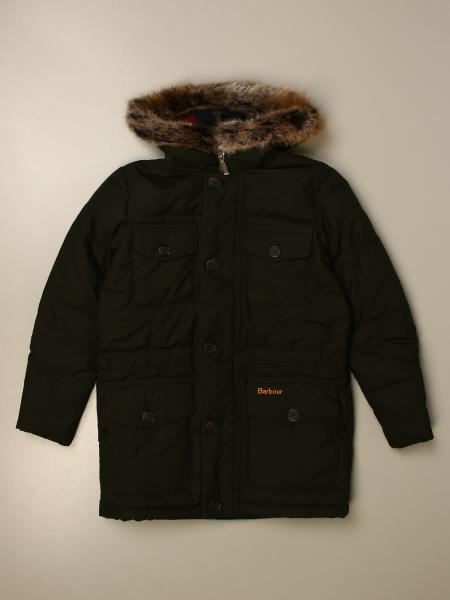 Barbour jacket with hood