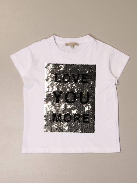 Elie Saab T-shirt with sequin lettering