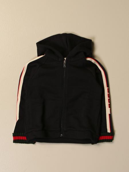 Gucci kids: Gucci sweatshirt with hood and Web bands