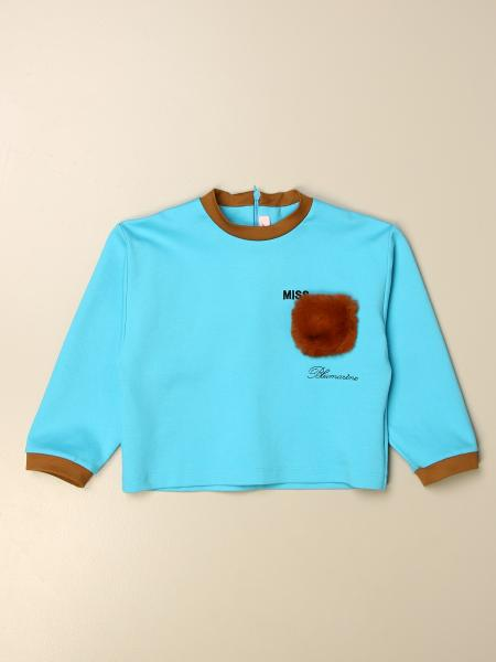 T-shirt Miss Blumarine con taschino a toppa